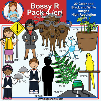 Clip Art - R Controlled Vowels - Bossy R Pack 4 (ER)