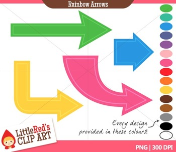 Rainbow Arrow Clipart