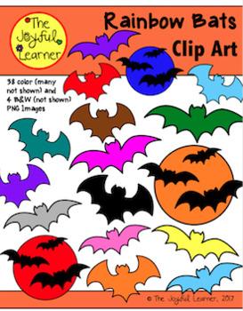 Clip Art: Rainbow Bats