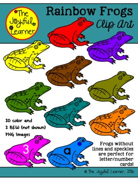 Clip Art: Rainbow Frogs