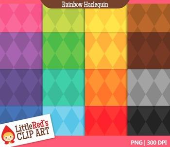 Harlequin Backgrounds - 16 Digital Papers