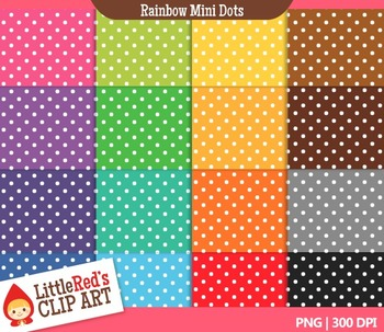 Mini Dots Backgrounds - 16 Digital Papers