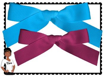 Clip Art~ Rainbow Ribbons