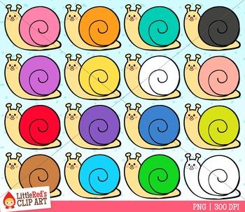 Rainbow Snails Clipart