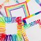 Clip Art: Square Watercolor Borders / Rainbow Digital papers / Rainbow Borders
