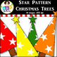 Clip Art ● Rainbow Star Pattern Christmas Trees ● Products for TpT Sellers