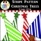 Clip Art ● Rainbow Stripe Pattern Christmas Trees ● Products for TpT Sellers