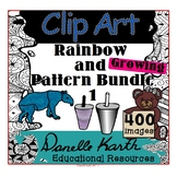 Clip Art - Rainbow and Pattern Bundle 1 with Easy Commercial TOU!