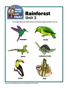 Clip Art Rainforest Unit 3