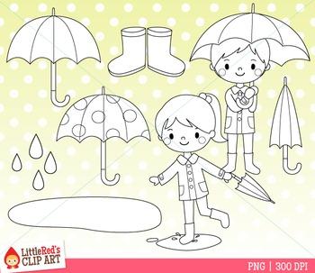 Spring Clip Art Rain Clip Art