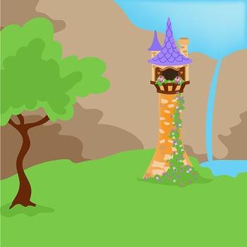Clip Art - Rapunzel - Fairy Tale Clipart