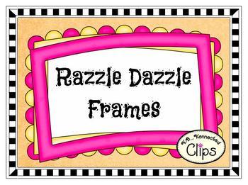 Clip Art - Razzle Dazzle Frames - Freebie sample in preview!