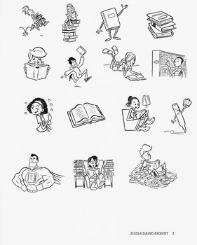 Reading Clipart Art : Commercial Use