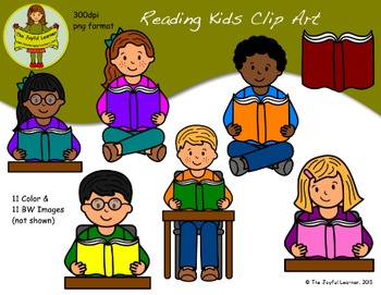 Clip Art: Reading Kids