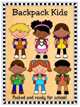 Clip Art - Ready for School...Backpack Kids!