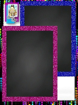 Clip Art ~ Rectangle Glitter Chalkboard Frames - Fantastic Followers Celebration