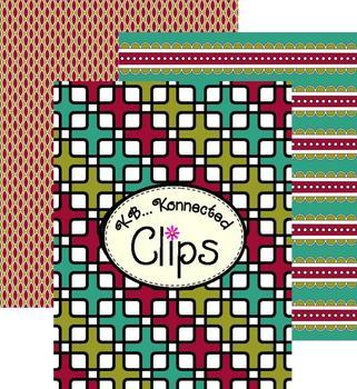Clip Art - Retro Autumn Hues Digi Paper Collection