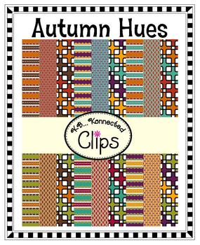 Clip Art - Retro Autumn Hues Digi Paper Collection