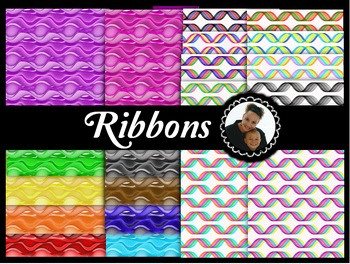 Clip Art~ Ribbons Digital Paper Collection