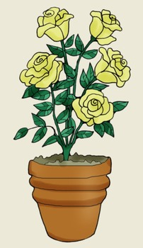 Clip Art: Rose Plant Science Parts and Words