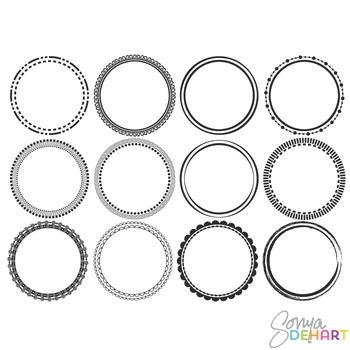 Frames - Round Circle Frames Clipart