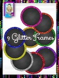 Clip Art ~ Round Glitter Chalkboard Frames - 500 Fantastic Followers Celebration
