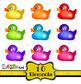 Clip Art Rubber Ducks Cartoon Animal Set