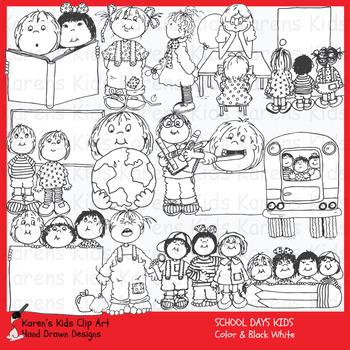 Clip Art SCHOOL DAYS KIDS