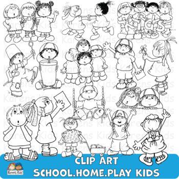 Clip Art SCHOOL HOME PLAY
