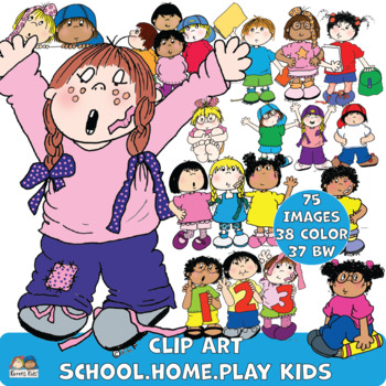 Clip Art SCHOOL HOME PLAY
