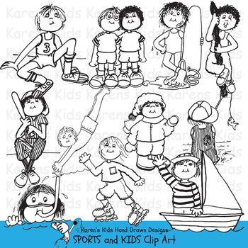 Clip Art SPORTS KIDS
