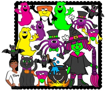 Clip Art~ Sabrina the Teenage Witch and Friends