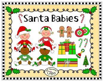 Clip Art - Santa Babies
