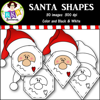 Clip Art ● Santa Shapes ● Products for TpT Sellers