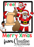 Clip Art~ Santa and His List Freebie!