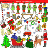 Clip Art Santa's Work Shop Collection