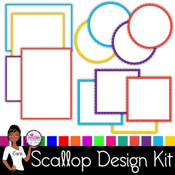 Clip Art~ MEGA Scallop Design Kit