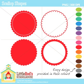 Scallop Shapes Clipart