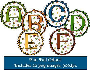 Clip Art - Scalloped Fall Alphabet