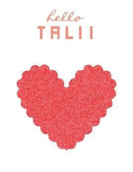 Clip Art: Scalloped Glitter Hearts