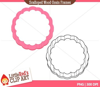 Scalloped Frames Clipart
