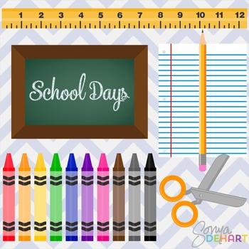 Clipart - School Days Teacher Set