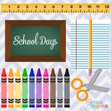 Clipart - School Days Teacher Set