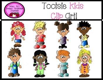 Clip Art School Kids