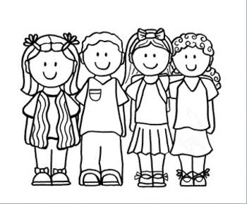 Clip Art~ School Kids 3