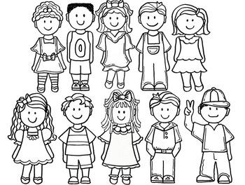 Clip Art~ School Kids 4