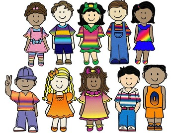 Clip Art~ School Kids 4