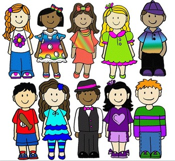 Clip Art~ School Kids 5