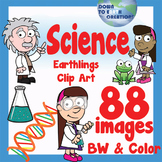Science Clip Art - Kids and Scientific Method
