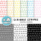 Clip Art: Scribble Stripes Digital Papers for Personal and Commercial Use